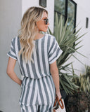 West End Cotton Striped Pocketed Jumpsuit