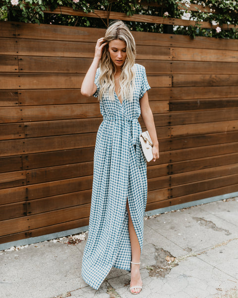 Westminster Bardot Wrap Maxi Dress
