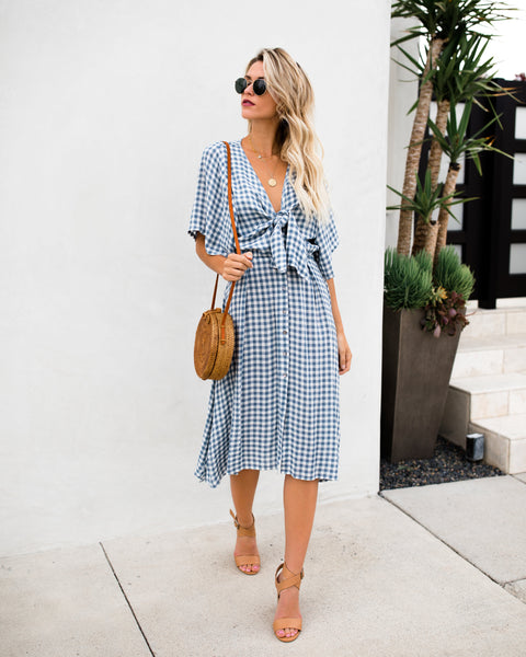 Westminster Tie Midi Dress