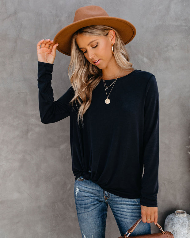 What's Knot To Like Long Sleeve Top