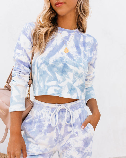 Whirlpool Cotton Cropped Tie Dye Top