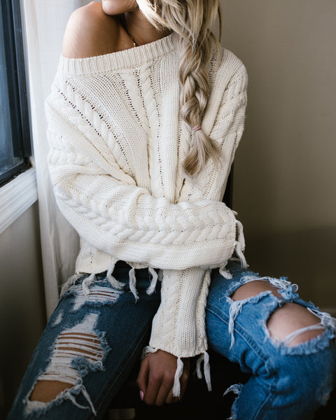 Anita Knit Sweater - Ivory - FINAL SALE