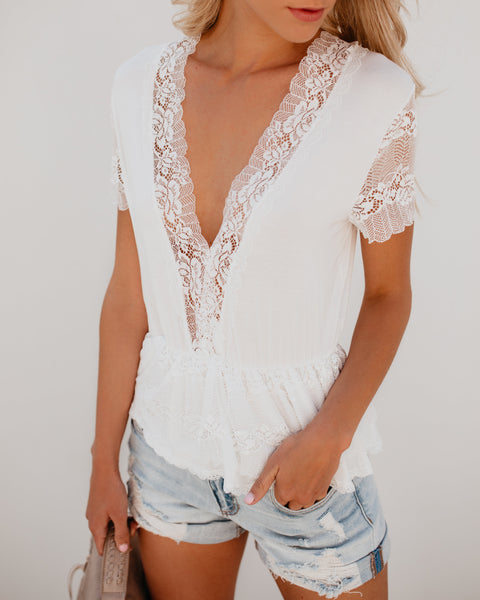 Pillow Talk Lace Top