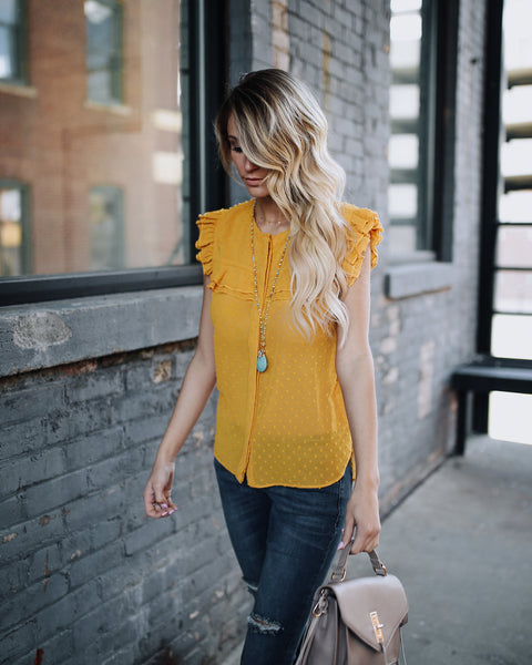 Sun Burst Polka Dot Embroidered Top