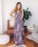 Playful Prismatic Printed Halter Maxi Dress