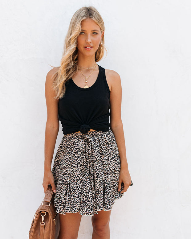 Zea Leopard Ruffle Mini Skirt