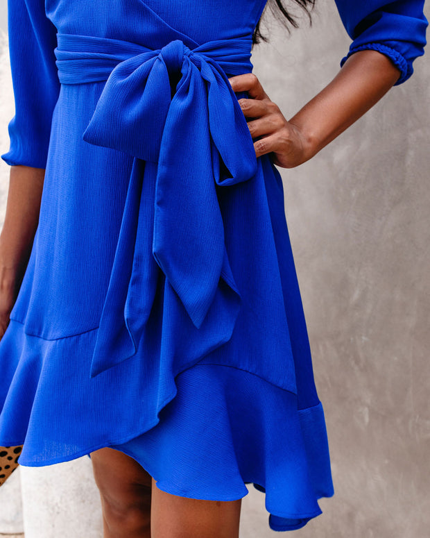 Zola Ruffle Tie Dress - FINAL SALE view 4