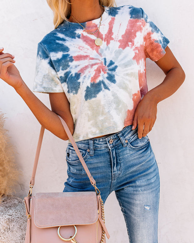 Abella Cotton + Modal Tie Dye Crop Tee - FINAL SALE
