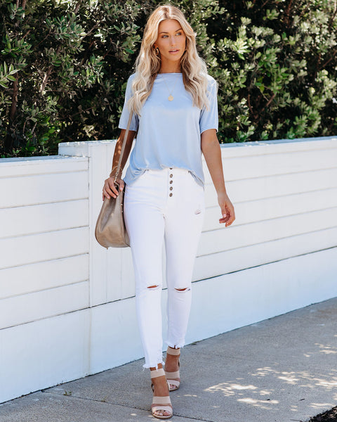Accessorize Tee - Pale Blue