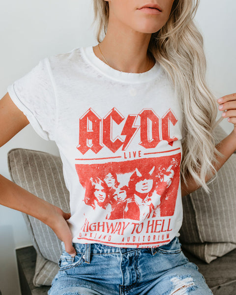 AC/DC Highway To Hell Cotton Blend Tee