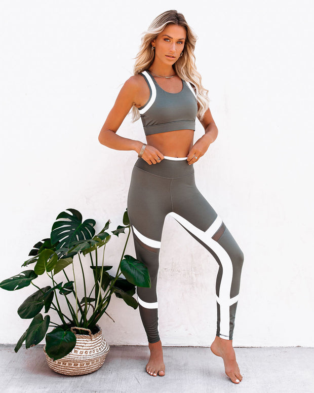 Action Mesh Panel Sports Bra view 11