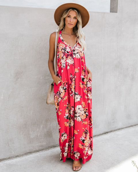 Actions Speak Louder Pocketed Maxi Dress