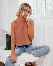 Adam Fuzzy Sleeveless Knit Top - Light Cinnamon