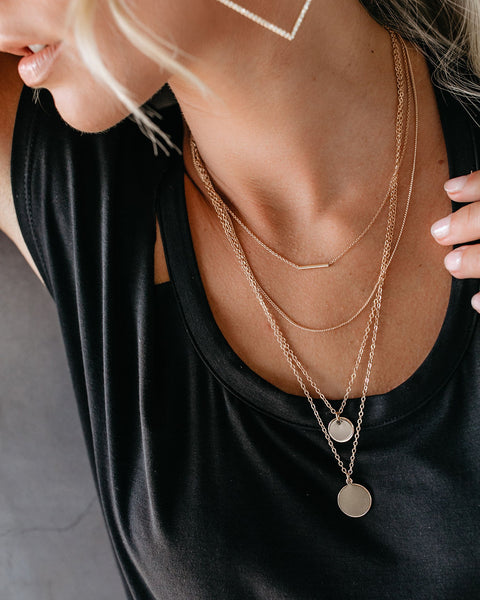 Aggie Gold Layered Necklace