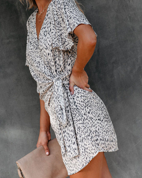 Aiden Printed Wrap Dress
