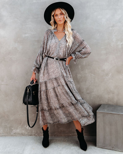 Ain't She Sweet Tiered Boho Midi Dress