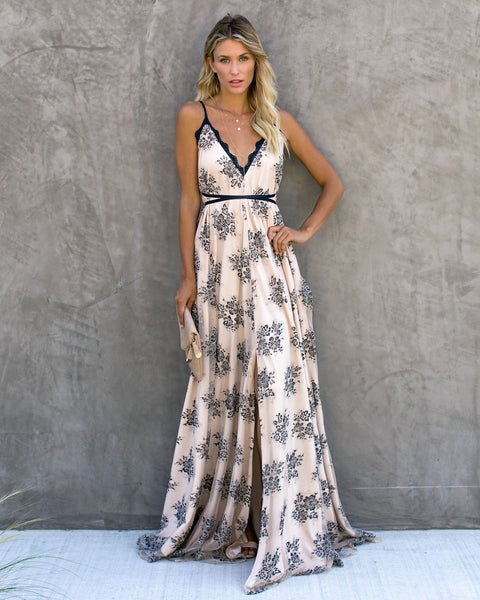 Airs And Graces Convertible Lace Maxi Dress - FINAL SALE