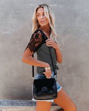 Alana Crossbody Handbag - Black view 2