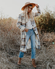Alanis Pocketed Plaid Coat