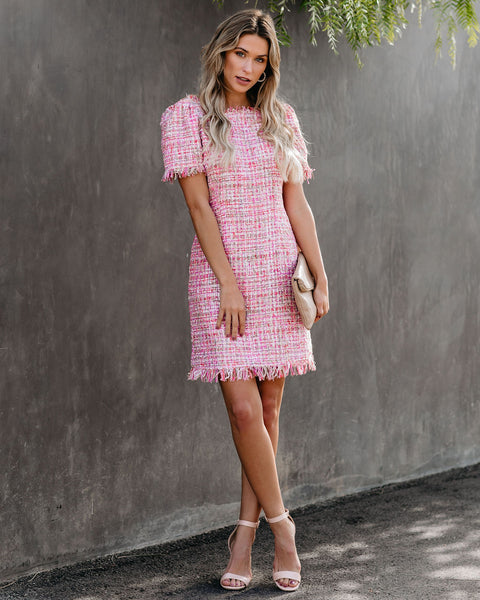 Alessandra Fringe Tweed Dress - FINAL SALE