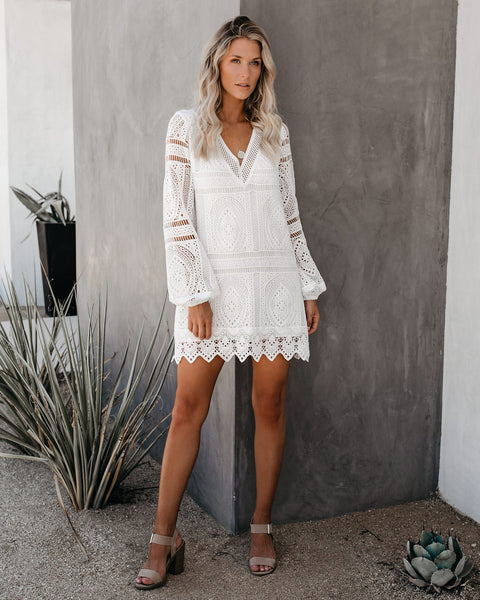 All Inclusive Crochet Lace Dress - FINAL SALE