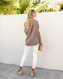 All Mine Modal Drape Top - Mocha