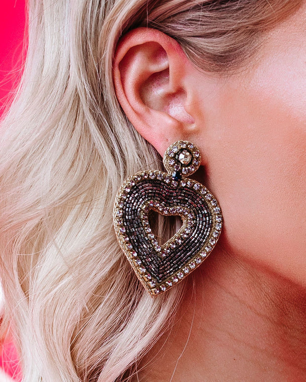 Filled With Love Beaded Statement Earrings