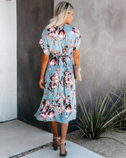 Aloe Vera Floral Midi Dress - FINAL SALE