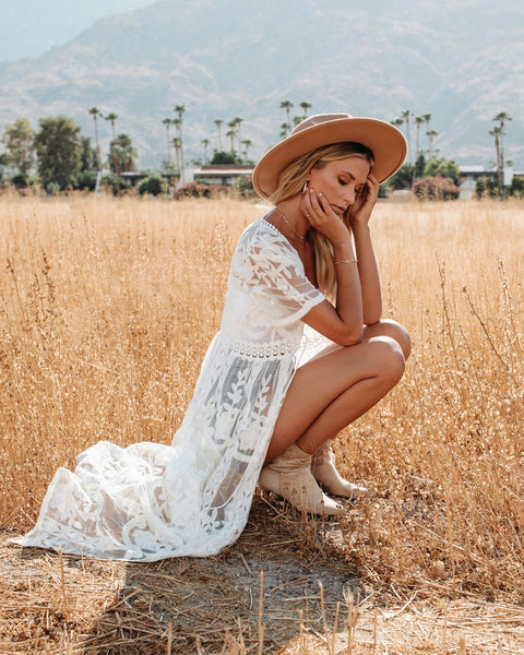 A Love Story Lace Duster Kimono - Ivory