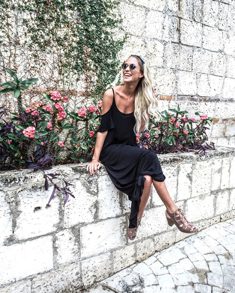 Fly Away Pocketed Maxi Dress - Black