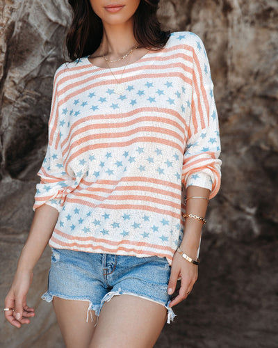 Americana Lightweight Knit Sweater