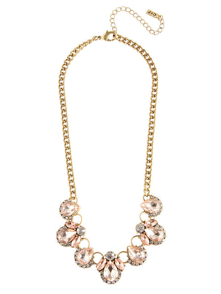 OLIVE + PIPER Amie Crystal Necklace - Blush
