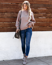Amsterdam Mock Neck Sweater - Taupe