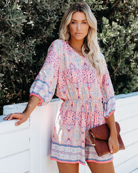 Amusement Printed Romper