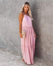 Andrea Ruffle Maxi Dress - Mauve  - FINAL SALE