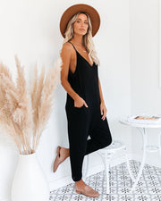 Andy Cotton Blend Pocketed Jumpsuit