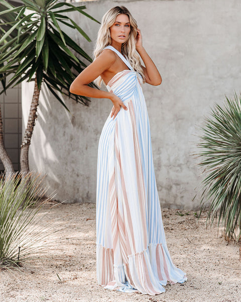 Angel Island Striped Maxi Dress