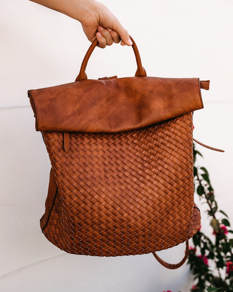 Another Adventure Woven Backpack - Tan