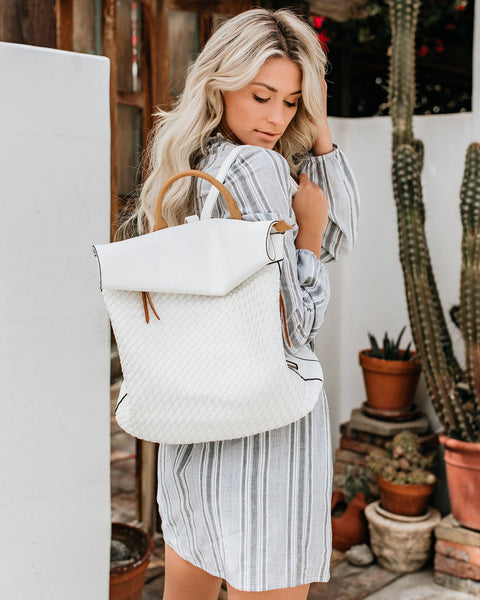 Another Adventure Woven Backpack - White