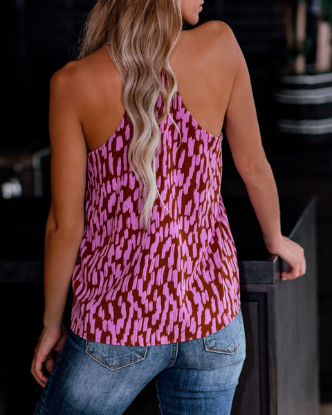 Another Year Of Love Printed Racerback Tank - FINAL SALE