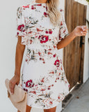 Antebellum Floral Dress - Ivory - FINAL SALE