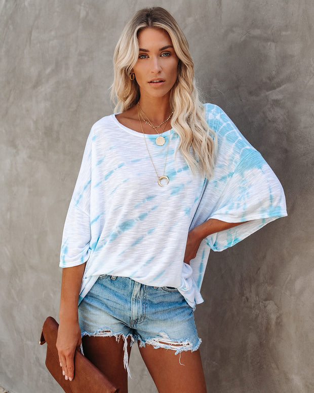 Araya Oversized Tie Dye Knit Top