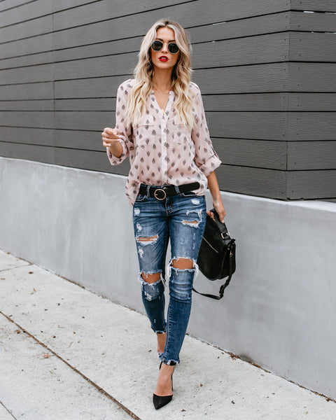 Arrowhead Button Down Blouse