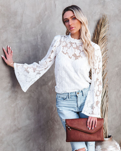 Ask And Receive Plisse Lace Blouse