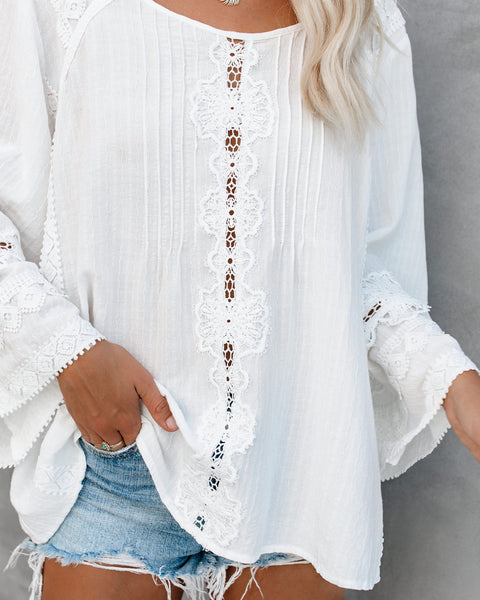 A True Artist Lace Appliqué Top - FINAL SALE