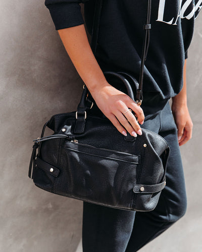 Augusta Faux Leather Satchel Bag
