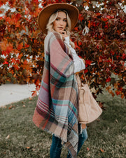 Autumn Air Plaid Pocketed Ruana