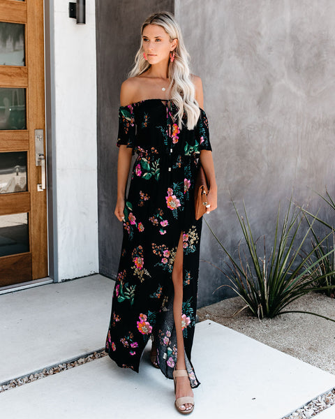 Ava Convertible Off The Shoulder Maxi Dress