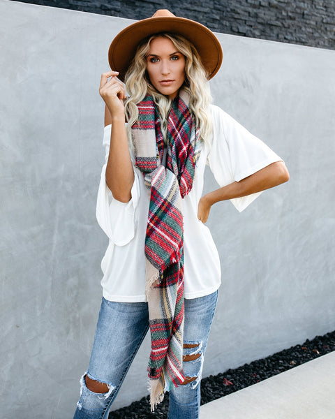 Ava Plaid Blanket Scarf