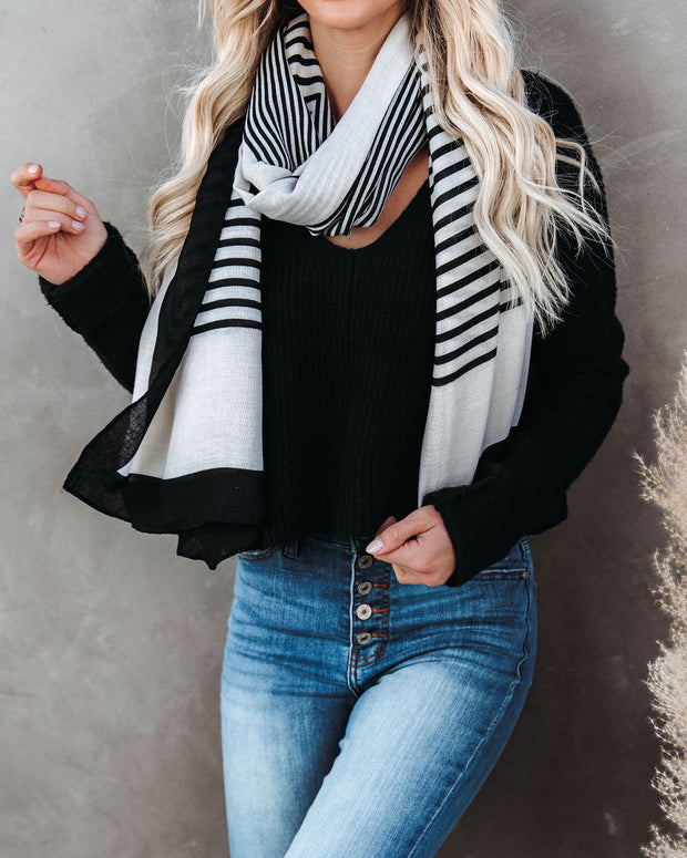 Avenue Striped Scarf - FINAL SALE view 2
